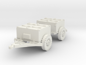 M8 armoured limber (2 pieces) scale 1/56 in White Natural Versatile Plastic