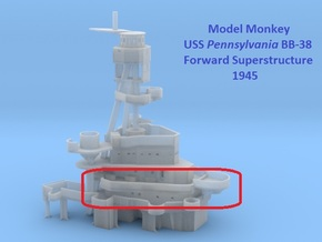 1/200 Pennsylvania Superstructure 1945 part 2 of 5 in Smooth Fine Detail Plastic