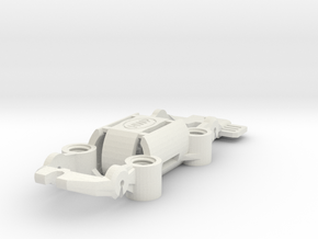 NEW! HWP-4WD Quad-Traction HO Slot Car Chassis in White Natural Versatile Plastic