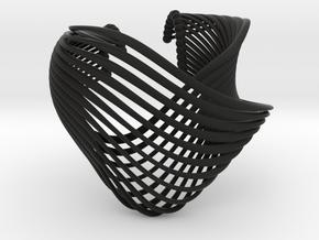 Vishna bracelet nylon - Kukla collection in Black Natural Versatile Plastic