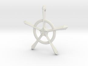 Ryuken's Quincy Cross in White Natural Versatile Plastic