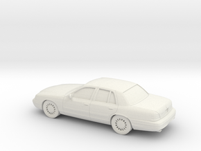 1/87 2003 Mercury Grand Marquis in White Natural Versatile Plastic