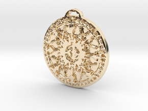 Class - Paladin in 14k Gold Plated Brass