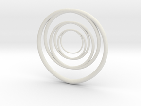 Linked Circle1 in White Natural Versatile Plastic