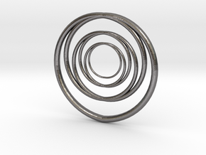 Linked Circle 1 in Polished Nickel Steel