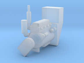 Engine for T Gleaner in Smooth Fine Detail Plastic