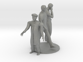 HO Scale Standing Men in Gray Professional Plastic