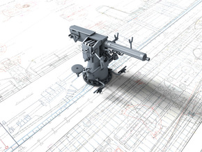 1/48 Single 2-pdr (4 cm/39) QF Mark VIII x1 in Smooth Fine Detail Plastic