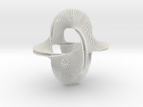 Honeycomb-borromean-surface in White Premium Versatile Plastic