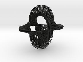 Honeycomb-borromean-surface in Black Premium Versatile Plastic