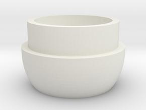 Inferno Mic Tip 90 in White Natural Versatile Plastic