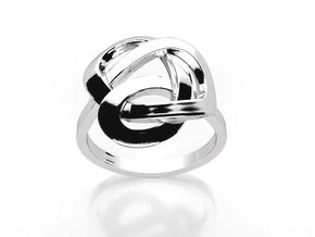 Infinity Love Ring (From $13) in Polished Silver: 6.25 / 52.125