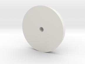 Dog Dish Hub Cap with Locking Hub 1.9 in White Natural Versatile Plastic