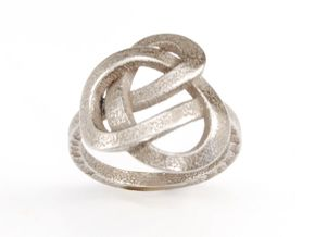Infinity Love Ring (From $13) in Polished Bronzed Silver Steel: 6.25 / 52.125