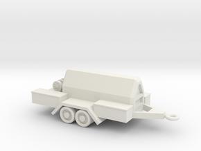 1/100 Scale Compressor Trailer in White Natural Versatile Plastic