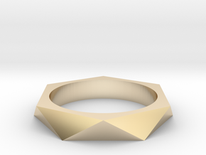 Shifted Hexagon 14.36mm in 14K Yellow Gold