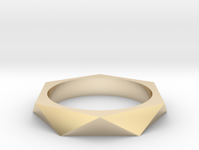 Shifted Hexagon 14.86mm in 14K Yellow Gold