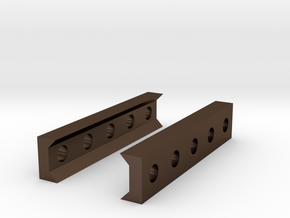Low Profile Picatinny to Picatinny Clamp (5 Slots) in Polished Bronze Steel