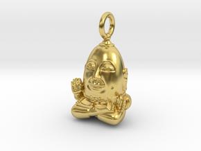 Humpty Dumpty Buddha in Polished Brass