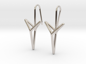YOUNIVERSAL Straight. Elegant Earrings.  in Platinum