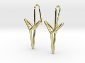 YOUNIVERSAL Straight. Elegant Earrings.  in 18k Gold Plated Brass