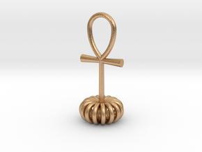 Torus energy pendant in Natural Bronze