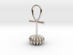 Torus energy pendant in Rhodium Plated Brass