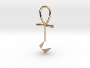 Octahedron energy pendant in 14k Rose Gold Plated Brass