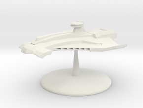 Custodian Class Battleship  in White Natural Versatile Plastic