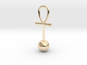 Zero Point Energy pendant in 14k Gold Plated Brass