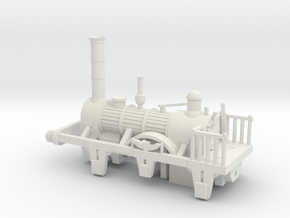 00 Scale 1830s Patentee Loco Scratch Aid in White Natural Versatile Plastic