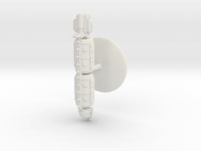 Large Merchant Vessel - 1 in White Natural Versatile Plastic