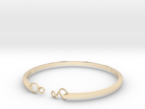 112ininitybangle in 14k Gold Plated Brass