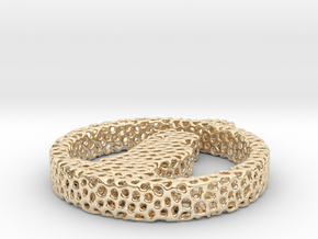 pendant voronoi in 14k Gold Plated Brass