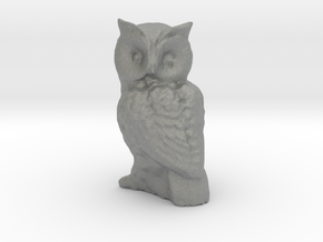 1-35 scale owl in Gray PA12
