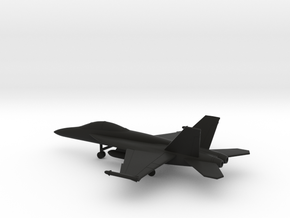 Boeing F/A-18F Super Hornet in Black Natural Versatile Plastic: 1:200
