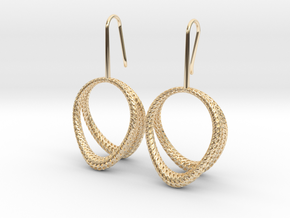 D-STRUCTURA Duo Earrings. Structured Chic in 14K Yellow Gold