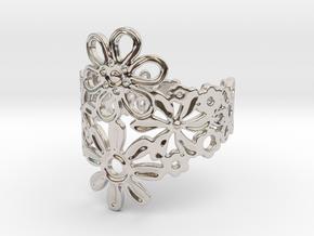 Spring  Flower Ring in Platinum