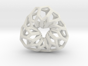 D-STRUCTURA 3T Pendant. in White Natural Versatile Plastic
