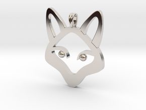 Small Fox 14K Gold Jewelry Necklace  in Platinum