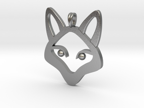 Small Fox 14K Gold Jewelry Necklace  in Natural Silver