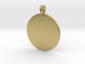 Initial charm jewelry pendant in Natural Brass