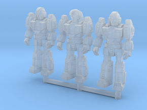 Diaclone Squad, at attention 35mm Minis in Smooth Fine Detail Plastic