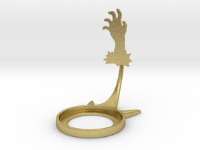 Halloween Hand in Natural Brass