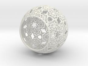 Tealight Holder in White Natural Versatile Plastic: Medium
