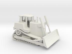 1/87 Scale Caterpillar D7R in White Natural Versatile Plastic