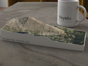 Quandary Peak, Colorado, USA, 1:25000 in Natural Full Color Sandstone