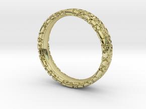 Wedding Ring Snake 5 mm in 18k Gold Plated Brass: 8.5 / 58