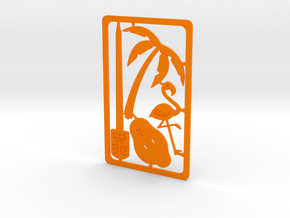Pocket Luau in Orange Processed Versatile Plastic