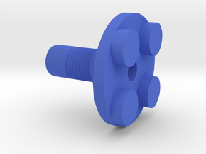 Toy Handle: 2x2 Circle in Blue Processed Versatile Plastic